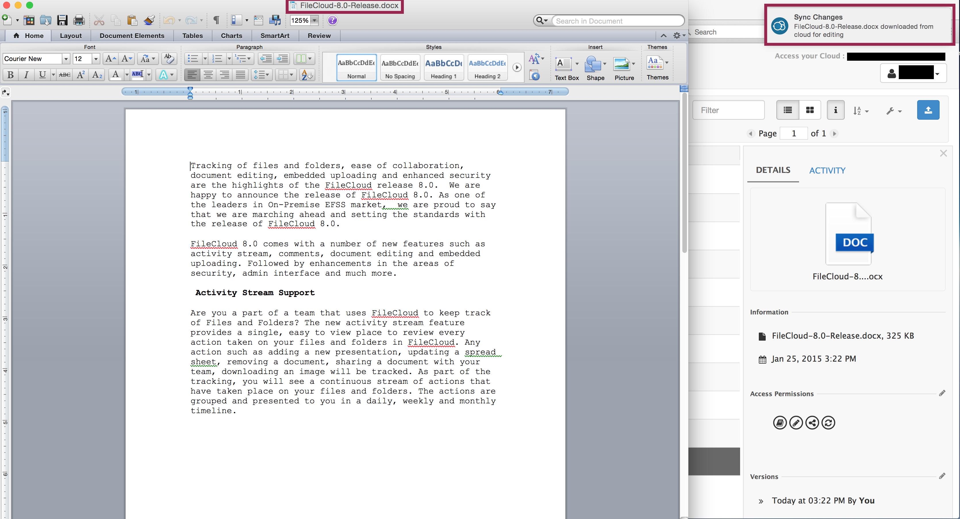 FileCloud Quick Edit – Microsoft Office Documents